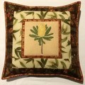 Australiana cushion cover - 'Banksia - yellow'