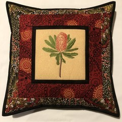 Australiana cushion cover - BANKSIA RED