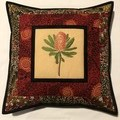 Australiana cushion cover - 'Banksia - red'
