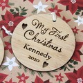 Personalised Christmas Decoration, My First Christmas , 1st Christmas