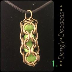 Brass Semiprecious Stone Pendants (5x available)