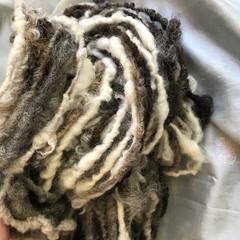 Handspun bulky artyarn, mixed natural Aussie wool  110  32 yards