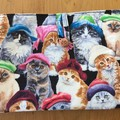 IPAD COVER/POUCH  CAT PRINT