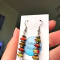 Christmas Earrings: Red and green stones