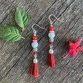 Christmas Red Cindy Earrings
