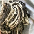 Handspun bulky artyarn, mixed natural Aussie wool  110  32 yards