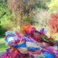 Fuzzy Silk Ribbon ~ * Recycled Silk from India * ~ 100gram Skeins Assorted Color