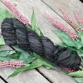 Silk Sari Ribbon ~ * Recycled Silk from India *~ 100gram Skein Black