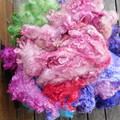 Hand Dyed Australian Leicester wool ~ Spinnning, Felting, all things Fibre Craft