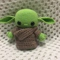Alien: READY TO POST, Crochet Toy, Girl Gift, Baby Yoda