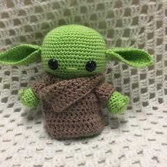 Alien:  Crochet Toy, Girl Gift, Baby Yoda