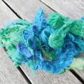 Shredded Silk Rods ~  Color way Ocean Waves 20g