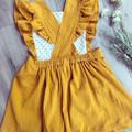 MUSTARD PINAFORE DRESS sz 4