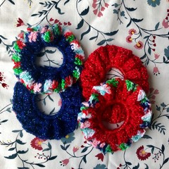 CHRISTMAS SCRUNCHIES   Various Options