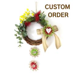 Custom listing for 'JANINE' - Australian Native Flower Christmas Wreath 20 cm