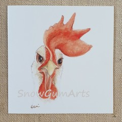 GEORGE the ROOSTER - Greeting card - Fun cards - Blank cards
