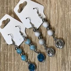Beaded dangly earrings