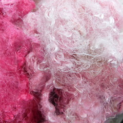 Silk Throwsters Hand Dyed 10g Color way - Fairy Floss.