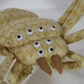 Giant Golden Huntsman Spider Fabric Wire Soft Sculpture