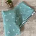 Waterproof change mat & nappy wallet, nappy pouch,