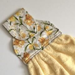 Yellow irises Designer Hand Towel