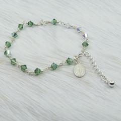 Rosary Bracelet -- Erinite -- Sterling Silver