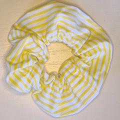 Yellow Striped Scrunchy