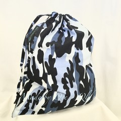 Drawstring Bag   -BLUE CAMO