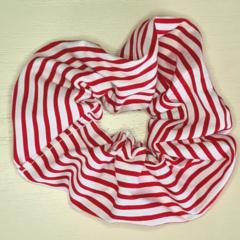 Red Striped Scrunchy