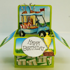 Hole in One Birthday Card