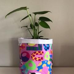 Large fabric planter | Storage basket | Pot cover | BRIGHT SHAPES
