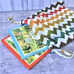 Drawstring Bag : CHEVRON -Autumn