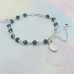 Rosary Bracelet -- Montana -- Sterling Silver
