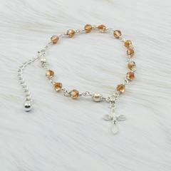 Rosary Bracelet -- Copper -- Sterling Silver