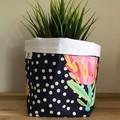 Small fabric planter | Storage basket | FLORAL CONFETTI