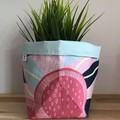 Small fabric planter | Storage basket | Pot cover | GUM BLOSSOM