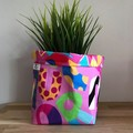 Small fabric planter | Storage basket | Pot cover | BRIGHT SHAPES