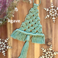 Medium macrame Christmas tree decoration