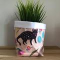 Small fabric planter | Storage basket | Pot cover | NATIVE ANIMALS