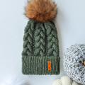 ADULT GUMNUT BEANIE WITH DOUBLE BRIM - 100% Australian Wool - Various Colours
