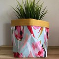 Small fabric planter | Storage basket | Pot cover | MINT PROTEA