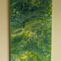 """""""Lemon and Lime"""" 80x40cm Fluid Acrylic Painting"""