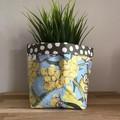 Small fabric planter | Storage basket | Pot cover | WATTLE GUM NUT BABIES