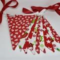 Christmas Fabric Bunting Christmas Owls