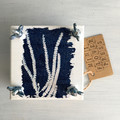 Handmade Mini Flower Press with Botanical Cyanotype Art of  Australian Wattle