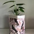 Large fabric planter | Storage basket | Pot cover | BLACK COCKATOO