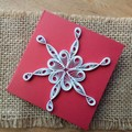 Mini Christmas Card Large Snowflakes