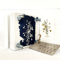 Mini Flower Press decorated with Native Flower Cyanotype art