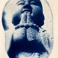 Original Cyanotypes, Set of Four Buddha Original Art Prints
