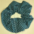 Green with White Dot Scrunchy